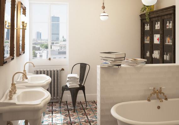 łazienka w apartamencie Warsaw Attics