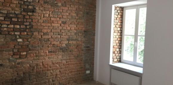 odrestaurowana ściana