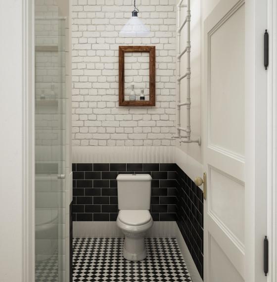 toaleta w kamienicy na Targowej
