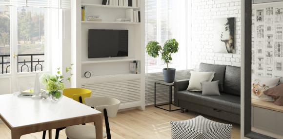 wnętrze apartamentu w Warszawie